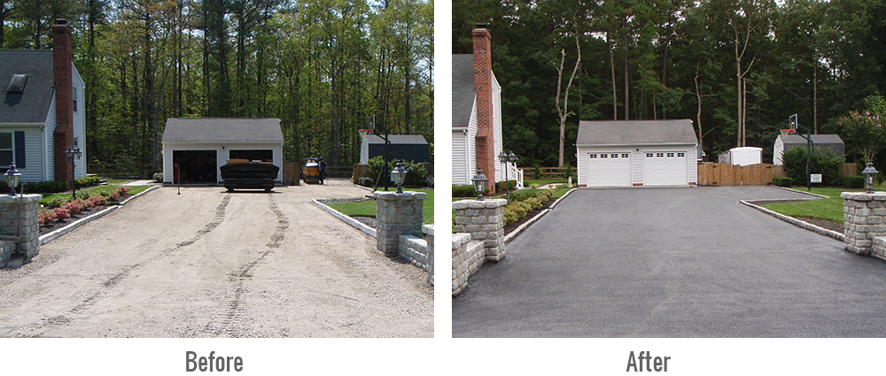 Driveway paving and seal coating Richmond VA